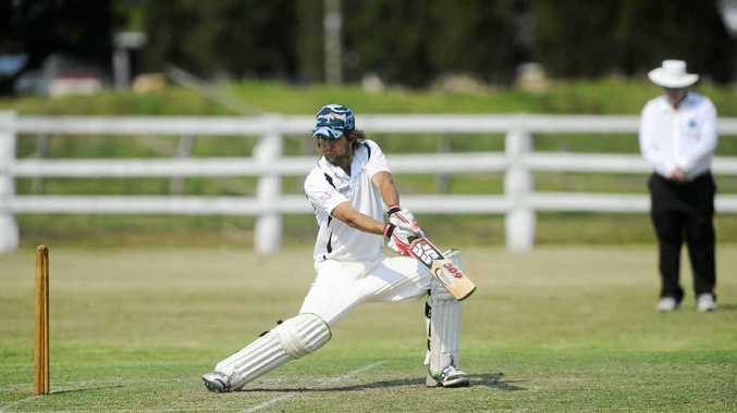 CAPTAIN'S KNOCK: Brad Chard smashed 94 in Coutts Crossing's second innings against Souths Services at Ulmarra Showgroun on Saturday. PHOTO: Jojo Newby