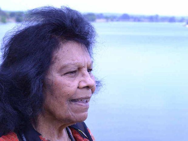 BUSH TREASURE: Aunty Muriel Burns looks over the Clarence. Photo: Lachlan Thompson