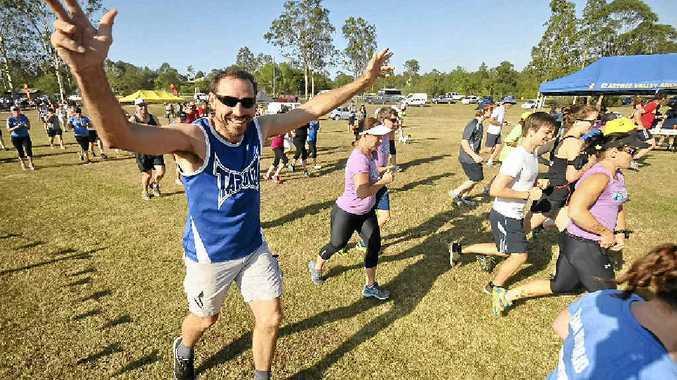 THEY'RE RACING: 2km starter John Wiborn at the Jacaranda Fun Run held at Caramana Park. PHOTOS: LEIGH JENSEN