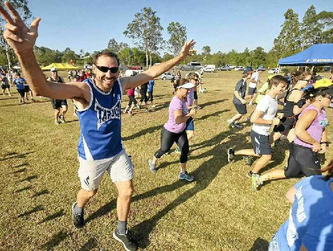 THEY'RE RACING: 2km starter John Wiborn at the Jacaranda Fun Run held at Caramana Park. PHOTOS: LEIGH JENSEN