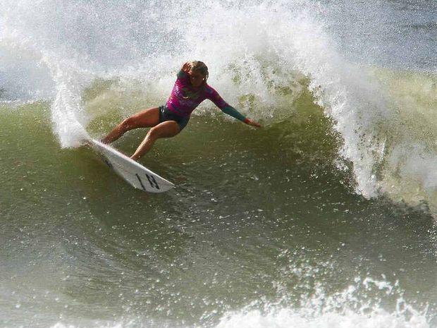 TOP EFFORT: Lennox Head surfer Stephanie Single reaches quarter-finals of World Junior Championships.
