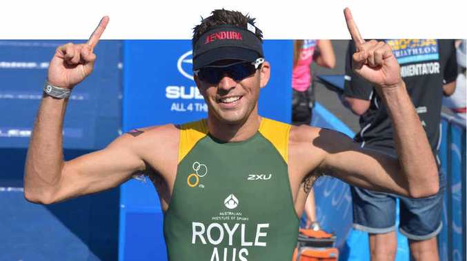 FIGHTBACK: Aaron Royle burned off his rivals on the final run leg to claim the Noosa Triathlon on his first attempt.