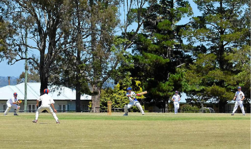SUPPORT ACT: Maugan Benn scored 27 runs during yesterday's Davis Shield match at Mayhew Oval.