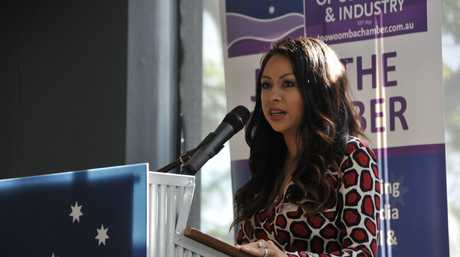 Cherry Blossoms founder Jellaine Ross shares her advice at a Toowoomba Chamber of Commerce and Industry's business breakfast.