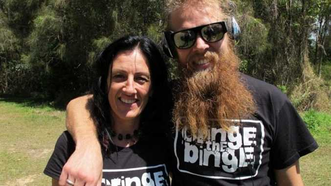CRINGING THE BINGE: Director of the Byron Youth Service, Di Mahoney with Tommy Franklin.