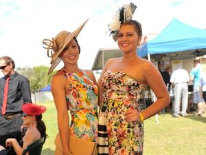 Fashionable fun on display at the Melbourne Cup race day at Ferguson Park