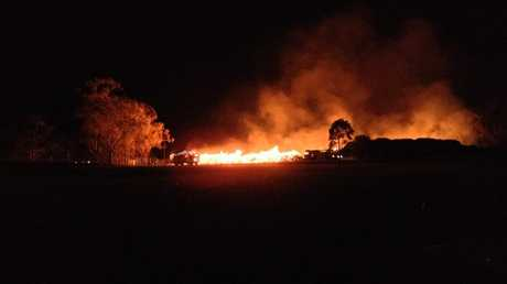 The fire at the Warwick dump.
