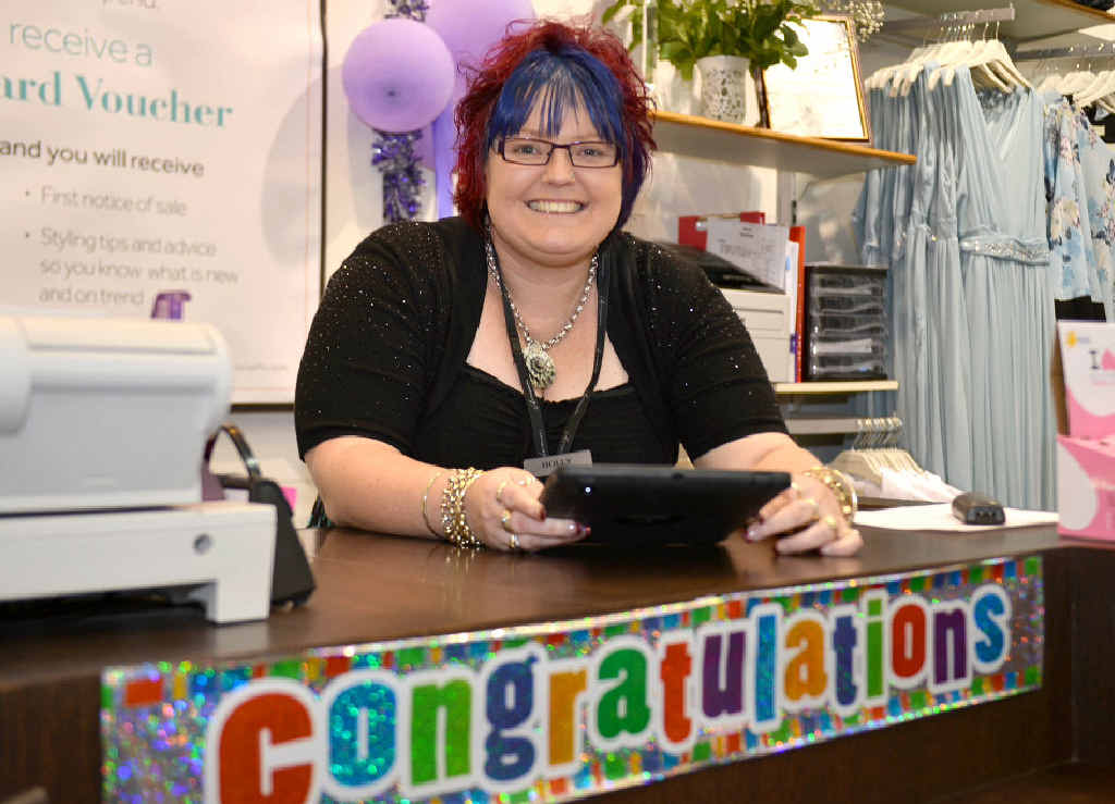 Gympie Autograph store manager Holly Lette celebrates winning Speciality Fashion Group Manager of the Year for her outstanding achievements with the Gympie store.
