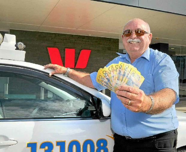 Taxi driver Ian Roberts found $1550 and promptly returned it to the owner.