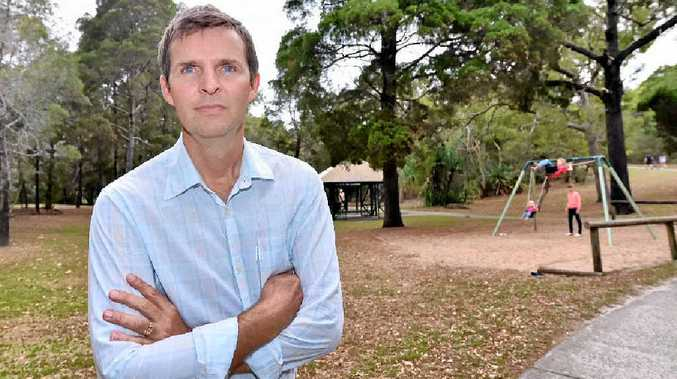 CONCERNS: Stephen Hayes fears that Pinnaroo Park will make way for Coles' proposed development at Noosa Junction.