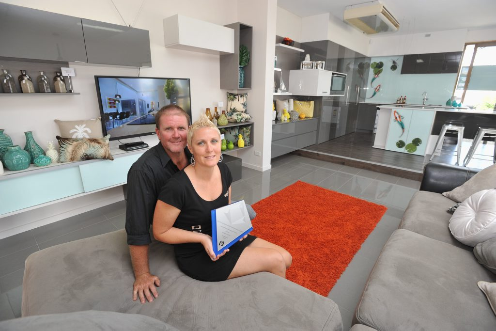 Ross and Angela Scott from Bungalow Homes have won the HIA Queensland Outstanding Showroom award.