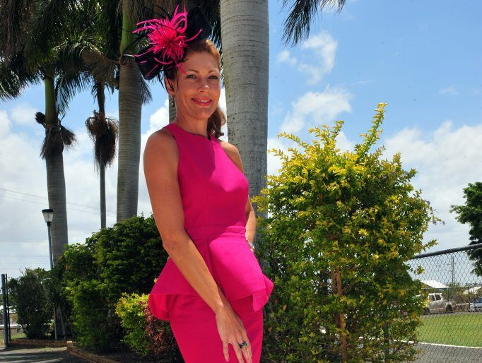RACE FASHION: Catherine Woods at Thabeban Park celebrating Melbourne Cup Day in style. Photo: Max Fleet / NewsMail