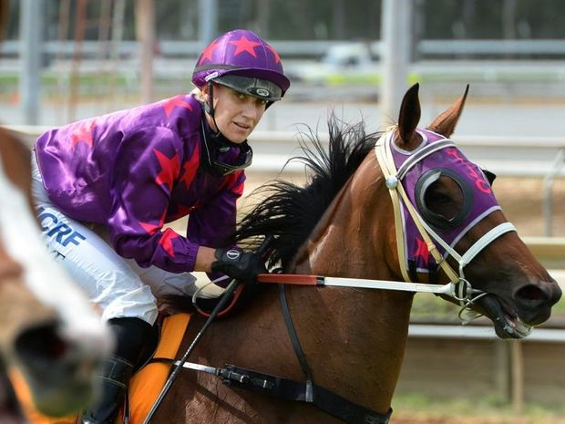 Jockey Carly-Mae Pye on Asha the Smasha at Callaghan Park on Melbourne Cup day last year.