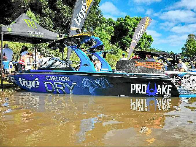 WEEKEND OF FUN: The Tige boats reunion at Grafton last year.