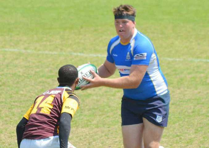 YOUNG TALENT: Conor Young in action during in the 2013 Brisbane GPS rugby season. PHOTO: Contributed