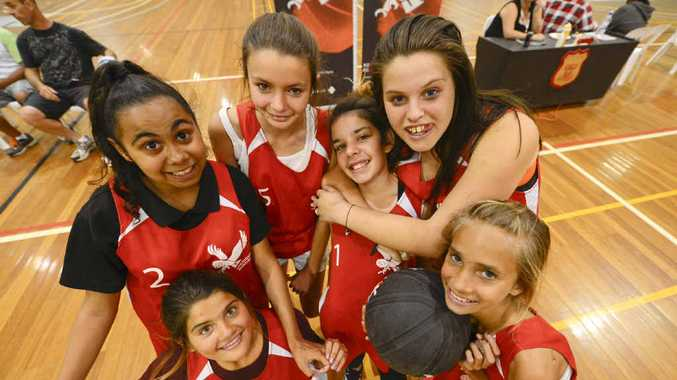 NIGHT MOVES: Young people having fun at Grafton Midnight Basketball. Photo: Adam Hourigan
