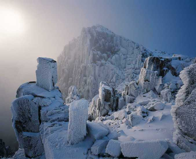 Challenging weather and freezing conditions near dusk didn't stop Tasmania's landscape photographer Grant Dixon from capturing the spectacular winter landscape of Mt Field National Park, Tasmania.