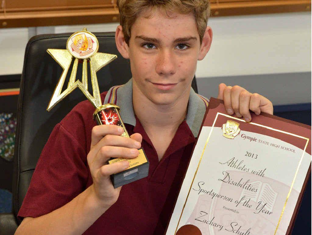 Gympie High AWD Sportsperson of the Year Zach Schultz.