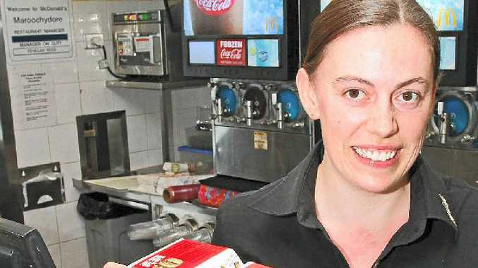 McHAPPY: McDonald's Maroochydore employee Holly Lynch is looking forward to the annual fundraiser.