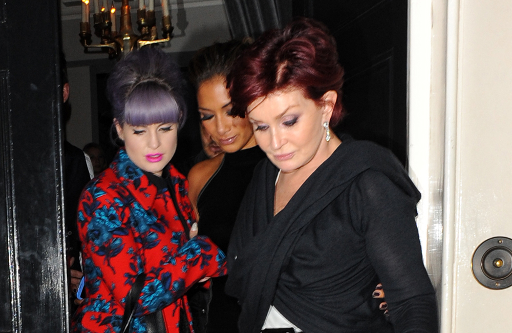 Kelly and Sharon Osbourne.
