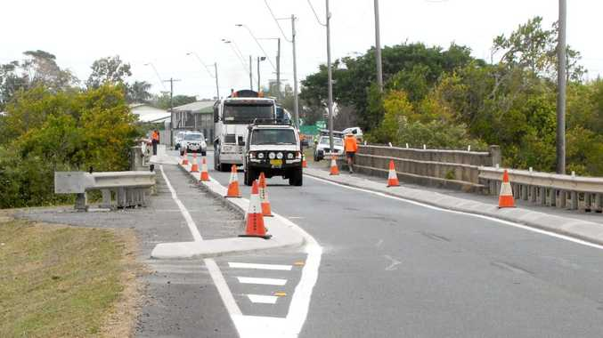 Traffic loads will be limited and speeds dropped to 40kmh on Vines Creek bridge on Harbour Rd once road-works are completed this week.