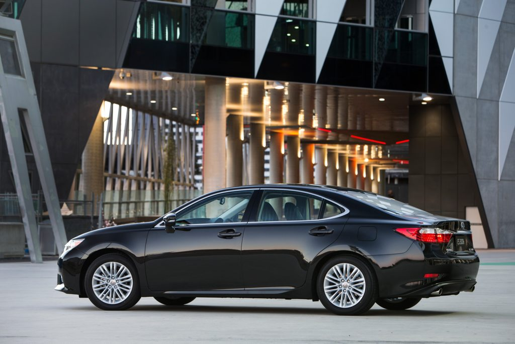 The new Lexus ES luxury sedan.