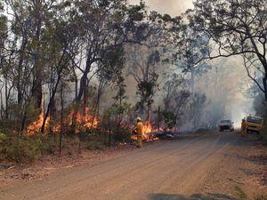 Firefighters tackling blaze on Churchill Mines Rd