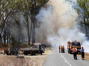 Fire blazes near Mt Perry