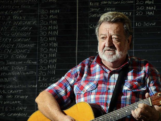 BLOSSOMING: Country music artist Terry Gordon played at the Clarence Valley Country Muster. Terry recorded When The Jacaranda Blooms, inspired by a previous stop-over in Grafton. PHOTO: JOJO NEWBY
