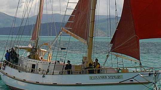 Alexander Stewart tour boat.