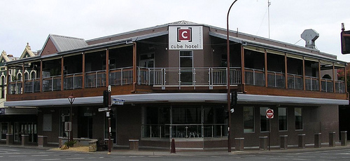 The Cube Hotel in Margaret St, Toowoomba.