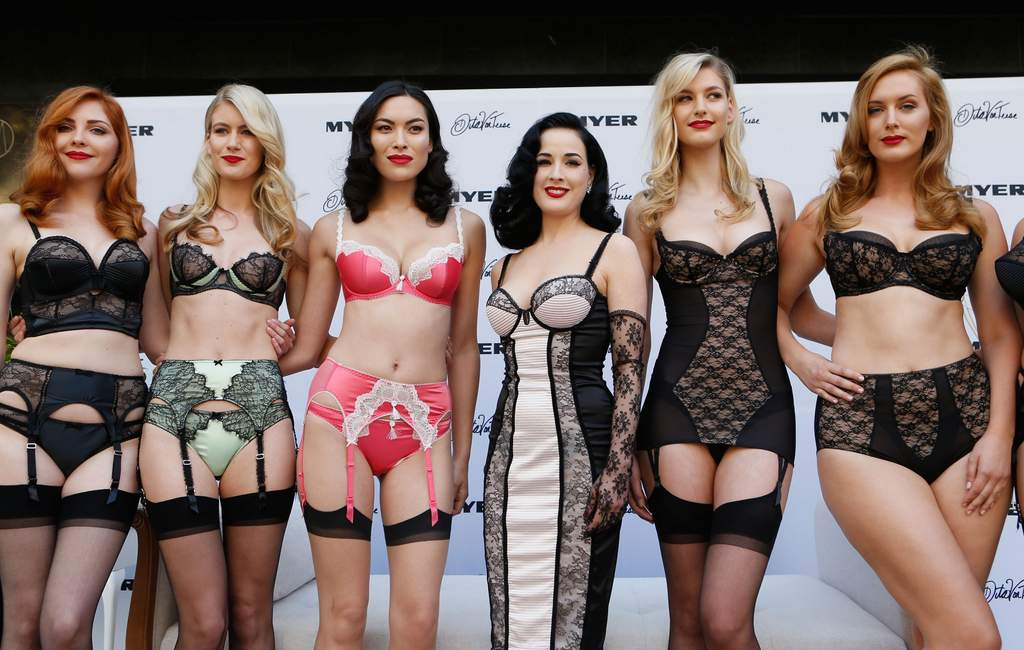International burlesque star and fashion icon Dita Von Teese was the star of the Myer Marquee.