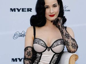 Dita Von Teese shows off her lingerie for Myer