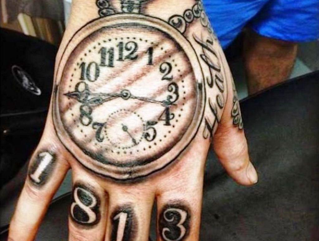 Tattoos on display at Saturday's tattoo show.