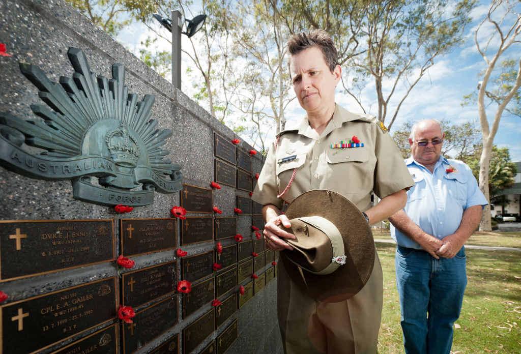 A NURSE'S DUTY: Army captain Emma Palmer with Coffs Harbour RSL sub-branch president Bob Payne.