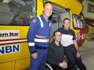 Rescued man thanks rescuers for saving life