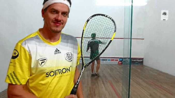 WORLD GAME: Professional squash player Jan Koukal will take on players from around the world at Mackay Leisure Centre this weekend.