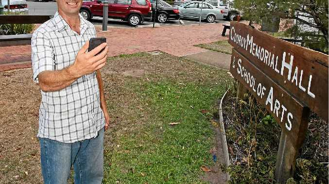 GREAT GUIDE: Andy Flitter has developed a community-based smartphone app for Cooroy.