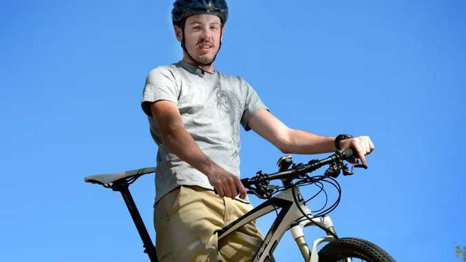 Mountain bike rider Rhys Jones will be competing in this weekends four hour race at Seeonee Park Photo Allan Reinikka / The Morning Bulletin