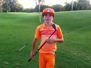 Junior golf player