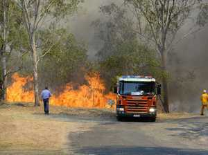 QFES: Esk fire could burn for days, water-bombing on the go