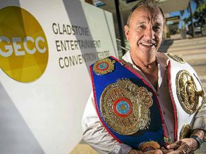 World title boxing belt in Gladstone ahead of fight night