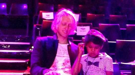 Uncle Jed's Shannon Stitt with fellow AGT finalist Dean Brady. Photo: Facebook.