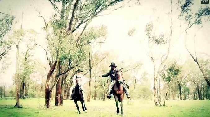 Screenshot of new Captain Thunderbolt bushranger docu-drama being made by Toowoomba film studio Evolution Studios.