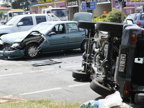 A two-vehicle crash at the intersection of Tor Street and Hursley Rd.
