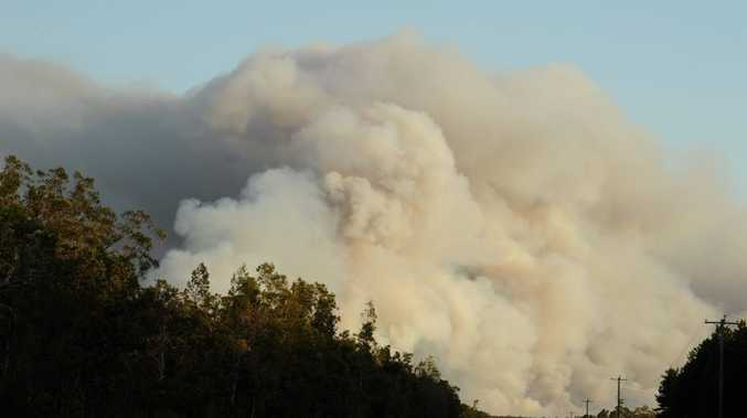 Smoke from the fire near Boonooroo could be seen for kilometres.