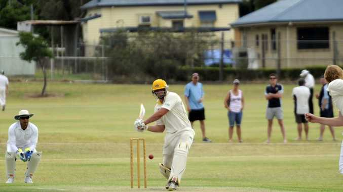 Diggers batsman Chris Hall plays a shot during his innings of 87 which helped his side secure the TCI A-grade one-day title.