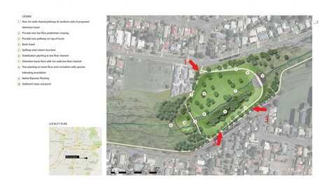 Artist's impression of detention basin planned for Garnett Lehmann Park. Photo Contributed
