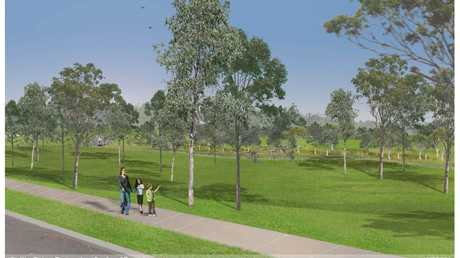 Artist's impression of detention basin planned for Ballin Drive Park. Photo Contributed