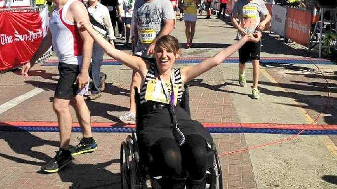 BRIGHT FUTURE: Cobie Moore, pictured here at the City to Surf finish line, returned to study a year after her injury. Photo: Contributed